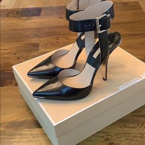 Michael Kors Alanna sexy ankle strap metal accents